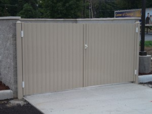 Aluminum Double Swing Gate (DBLSG) Dumpster Enclosure Gates